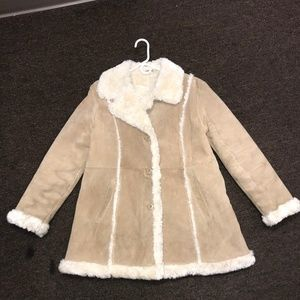 Wilsons Leather Maxima Tan Suede Coat